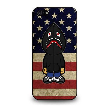 BAPE CAMO SHARK AMERICA iPhone 5 / 5S / SE Case Cover