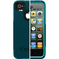 OtterBox Commuter Series Case for iPhone 4/4S - Retail Packaging - Teal/Blue