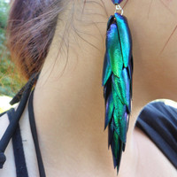 Jeweled Mermaid Tail - Egyptian Beetle Wings - Gift for Her