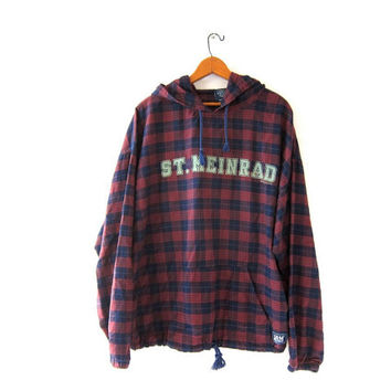 Shop Hooded Plaid Flannel on Wanelo