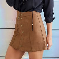 Fashion solid color tight skirts