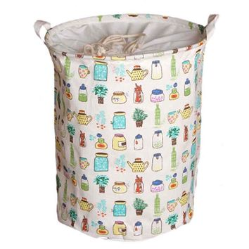 Practical Large Bucket Drawstring Beam Port Dirty Clothes Laundry Basket Foldable Toys Storage Organizer Household Sundries Ba