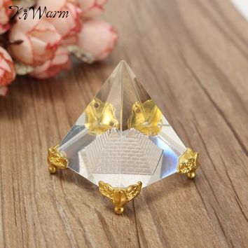 Energy Healing Small Crystal Glass Pyramid for Altar