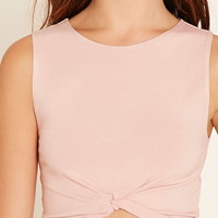 Twisted Hem Crop Top | Forever 21 - 2000223528