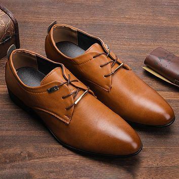 Size 38~48 men formal shoes factory outlet brand trend leather mens dress shoes #SH710