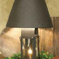 Large Milk House 4-Way Lamp with Star Shade - Rustic Brown