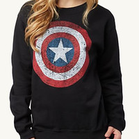 Captain America Star Print Long Sleeve Sweatshirt