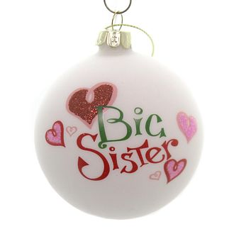 Holiday Ornaments LITTLE MIDDLE BIG SIBLING BALL Family Siblings C4890 Big Sister