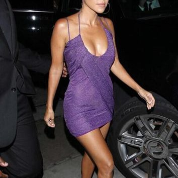 Kiki Purple Criss-Cross Dress