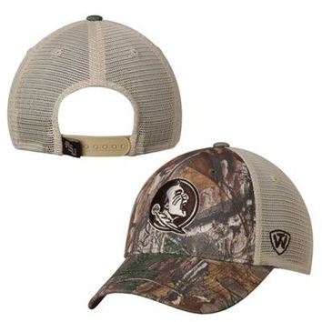 NCAA Florida State Seminoles Top of the World Prey RealTree Xtra Trucker Hat
