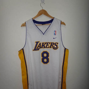 15% OFF Sale Rare Kobe Bryant NIKE Los Angeles Lakers #8 Jersey Stitch Used NBA Basketball Jersey Shirt 2Xl