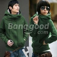 Korea Casual Lovers' Thicken Fashion Zipper Fleeces Hoodies Coat Free Shipping!  - US$15.99