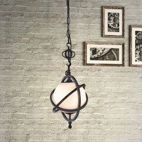 Zuo Topaz Ceiling Lamp Antique Black Gold - 98236