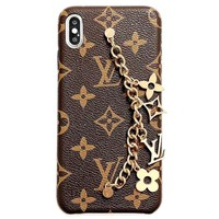 Free shipping-LV new retro classic print anti-fall phone case
