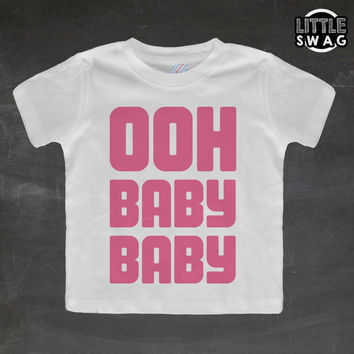 Ooh Baby Baby Pink  (white shirt) - Destiny,  toddler apparel, kids t-shirt, children's, kids swag, fashion, clothing, swag style