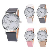 Xiniu Relogio Feminino Retro style Lovely Cartoon Cat Leather Quartz Analog Women Watch Casual Ladies Watches Quartz Wrist Watch
