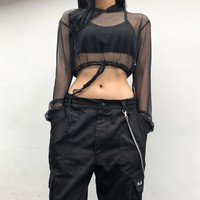 Hats Autumn Long Sleeve Crop Top Tops T-shirts [1414815809633]