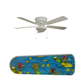 "Frog Pond Fun 52"" Ceiling Fan and Lamp"