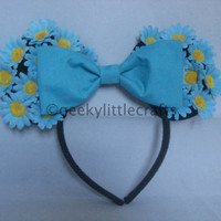 Sky Blue Daisies Mickey Mouse Inspired Ears