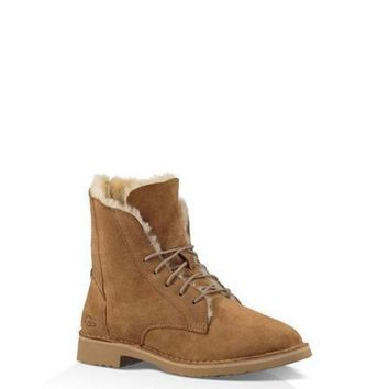 NOV9O2 Ugg 1012359 Maroon Classic Street Quincy Boots Snow Boots