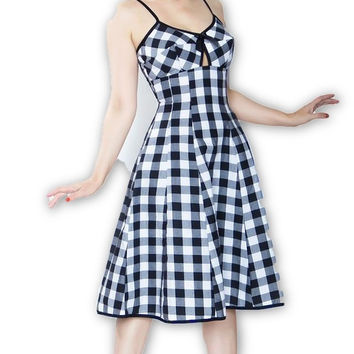 Bullet Dress in Black & White Gingham