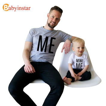 New Arrival Family Look Summer ME and MINI ME Pattern Family t shirt Father and Son Clothes 2016 Family Matching Outfits