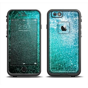 The Grungy Teal Texture Apple iPhone 6/6s LifeProof Fre Case Skin Set