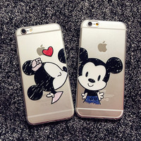 "New Catoon Scrawl Minnie Mickey Soft Light TPU Phone Back Cover Phone Case For Iphone 6 4.7"" YC859"