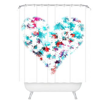 Aimee St Hill Floral Heart Shower Curtain