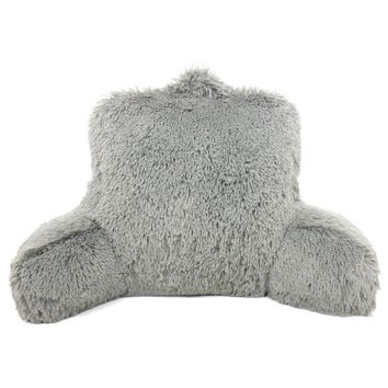 Warmly Shaggy Fur Bedrest Lounger | Overstock.com Shopping - The Best Deals on Throw Pillows