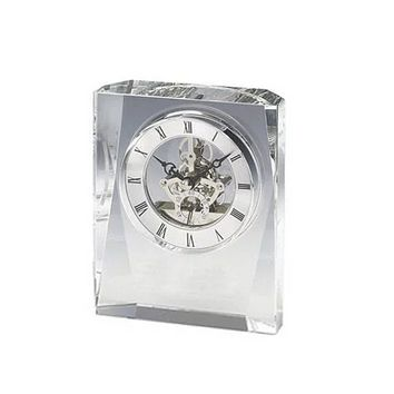 Personalized Free Engraving Crystal Desk Clock
