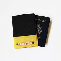 Mustard Personalized Passport Cover Personalized Passport Holder Personalized Passport Case, Personalized Travel Gift - SKPC58