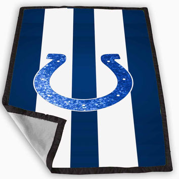 Indianapolis Colts Sparkly Blanket for Kids Blanket, Fleece Blanket Cute and Awesome Blanket for your bedding, Blanket fleece **
