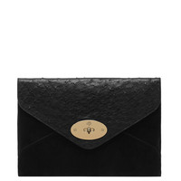 Mulberry Willow Clutch Mixed Exotic - Black Envelope Clutch - ShopBAZAAR