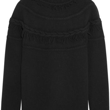 Agnona - Wool and cashmere-blend turtleneck sweater