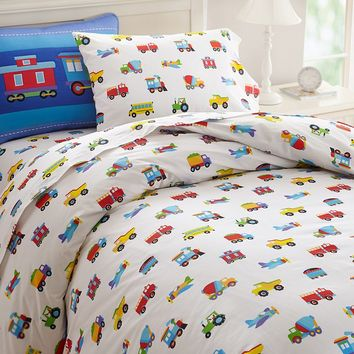 Olive Kids Trains, Planes & Trucks Duvet Cover (Blue)