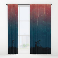 Meteor rain Window Curtains by budikwan