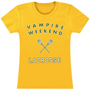Vampire Weekend  Girl's Lacrosse Junior Top Gold