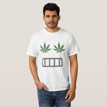 Ganja weed smoke pot, emoji smiley face design T-Shirt