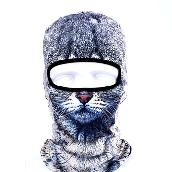 Gray Cat Ski Mask