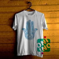 Evil Eye Hamsa Blue Tshirt For Men / Women Shirt Color Tees