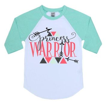 Princess Warrior Kids Raglan Shirt