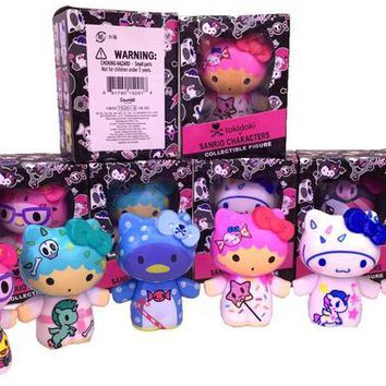 1set Tokidoki hello kitty moofia action figure doll 9cm box package decoration Mini Japanese Cartoon ktty doll d12