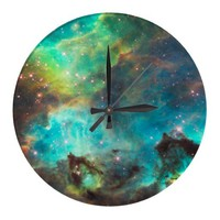 Nebula Wall Clock from Zazzle.com
