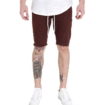 Embellish NYC Silhouette Shorts In Burgundy