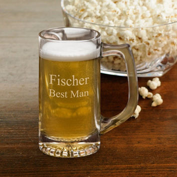 Personalized 12 oz. Beer Glass - Sports Mug