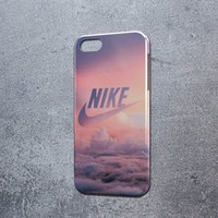 Pink nike Paradise Sky for iphone 5c  6 6plus and samsung galaxy S5 S6 S7 case