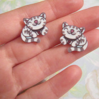 Soft Kitty Earrings, Big Bang Theory Earrings, Internet Meme, Novelty, Sheldon Cooper, Gifts for Nerds, Geek Accessories, SMALL