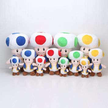 "Super Mario party nes switch 4 colors 4pcs/set  7""  Bros Toad Plush Doll  Mushroom stuffed plush Toys dolls gifts AT_80_8"