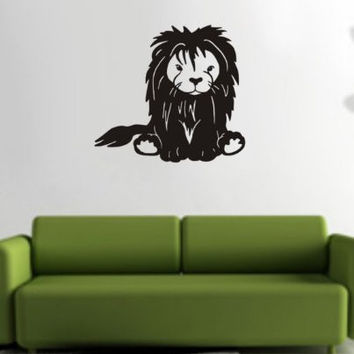 Lion Decal Sticker Wall King of the Jungle Boy Girl Nursery Children Teen Kid